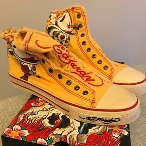 New With Box Size 9 Men's Ed Hardy Sneakers